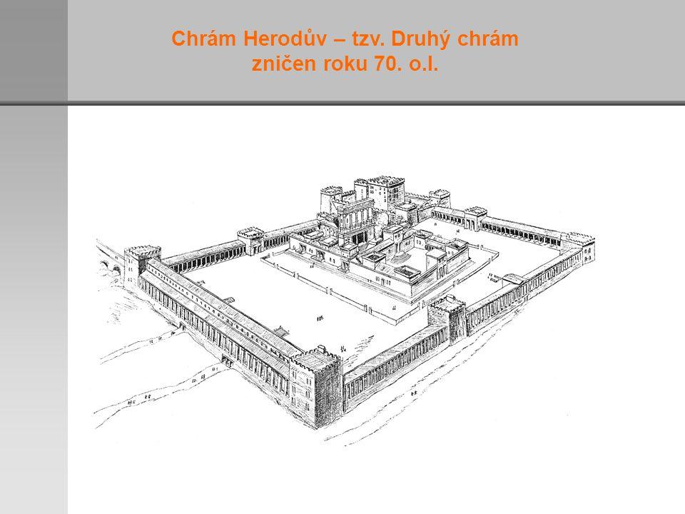 Chrám Herodův – tzv. Druhý chrám