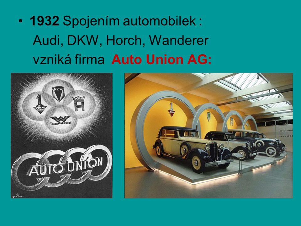 1932 Spojením automobilek :