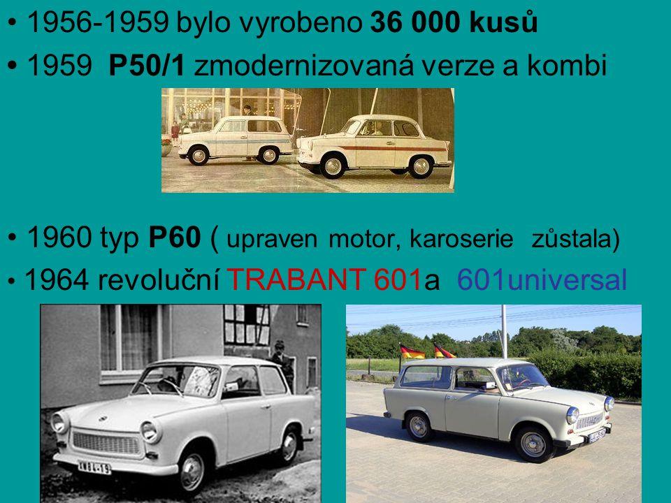 • 1959 P50/1 zmodernizovaná verze a kombi
