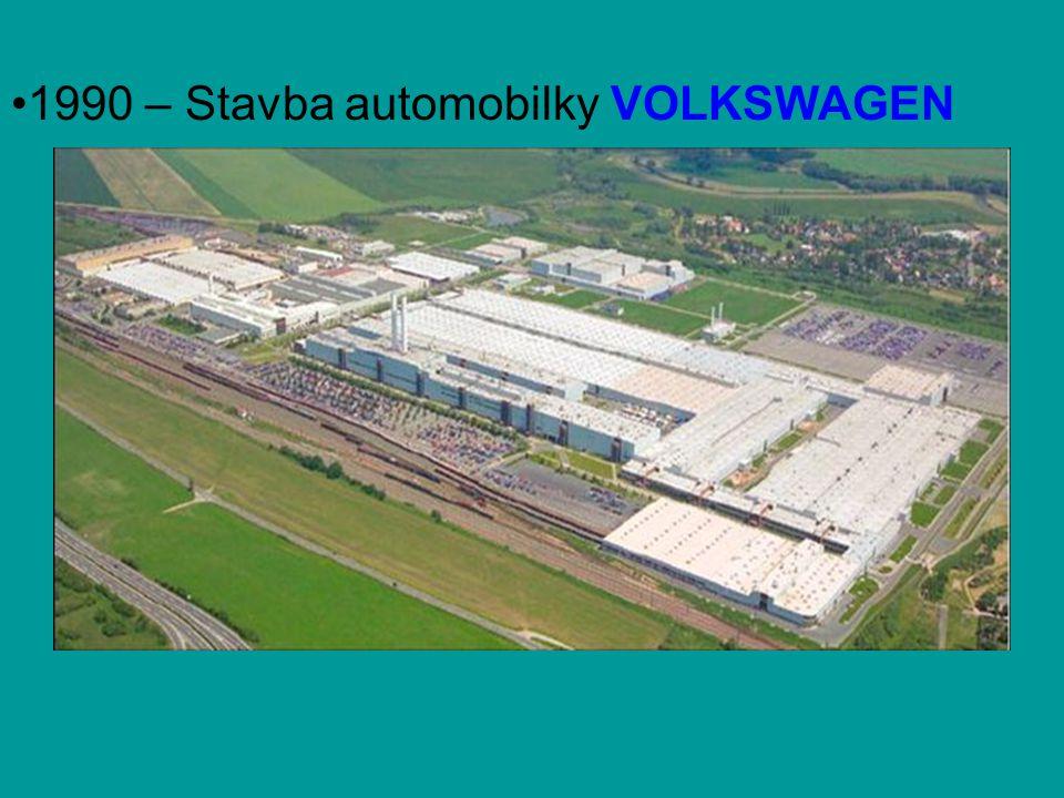 •1990 – Stavba automobilky VOLKSWAGEN
