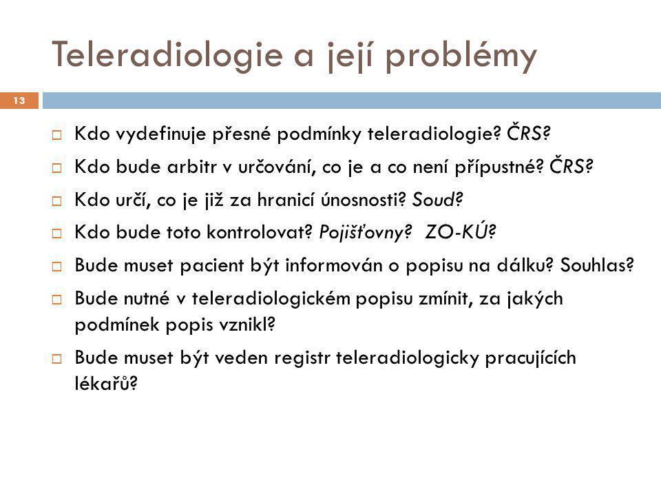 Teleradiologie a její problémy