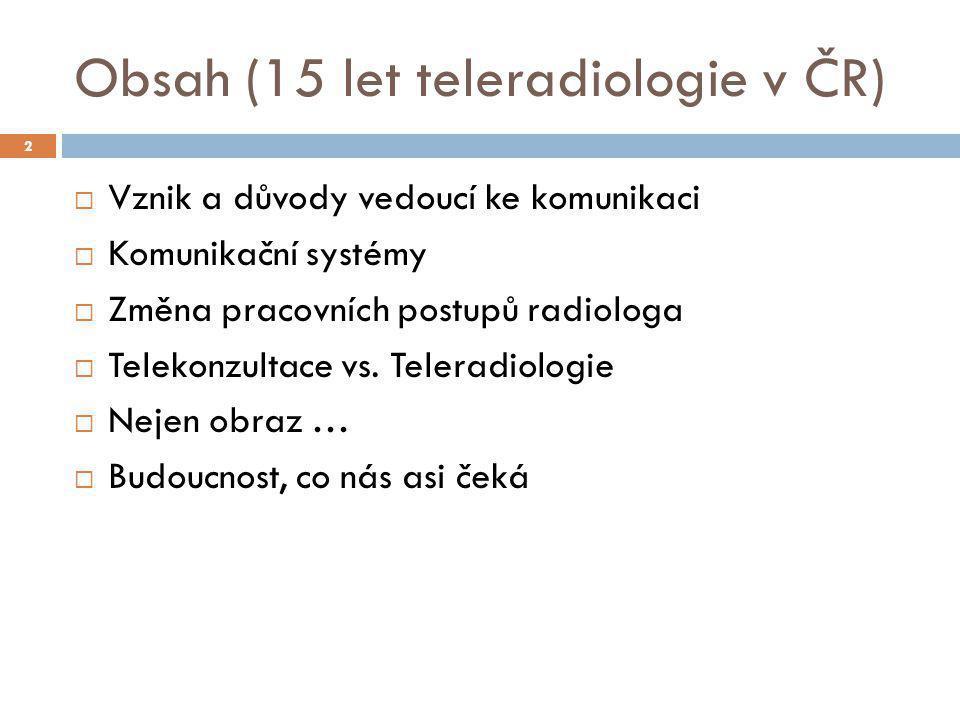 Obsah (15 let teleradiologie v ČR)