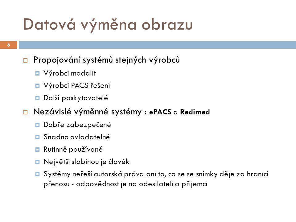 Datová výměna obrazu Propojování systémů stejných výrobců