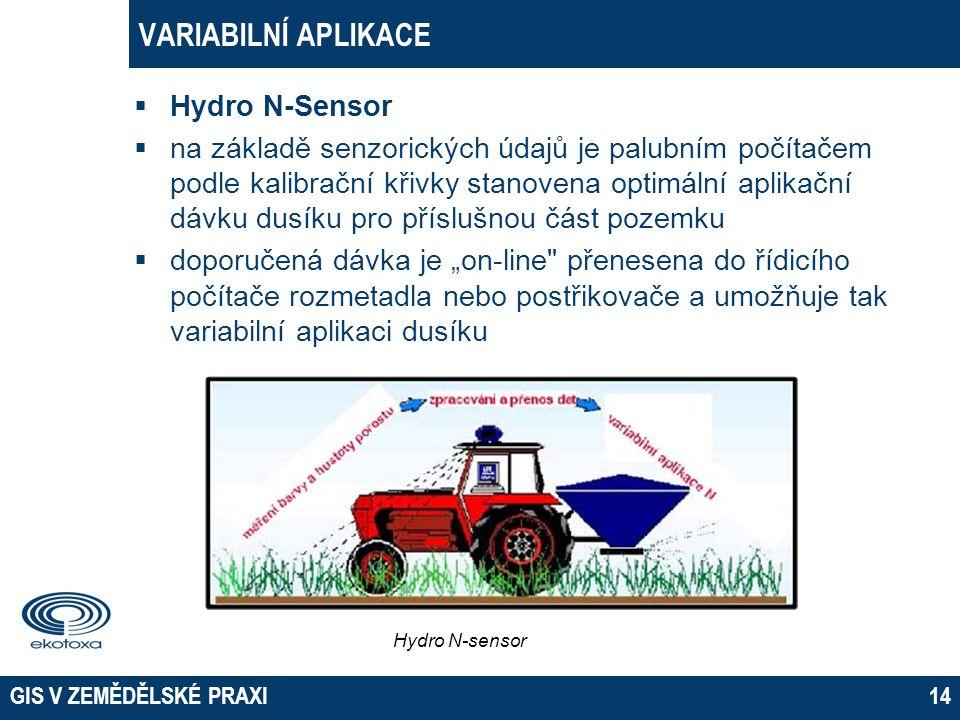 02 April 2017 EKOTOXA s.r.o. Opava VARIABILNÍ APLIKACE Hydro N-Sensor