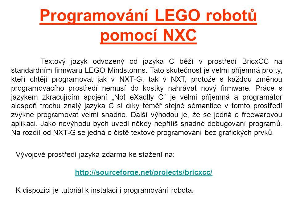 Programování LEGO robotů pomocí NXC