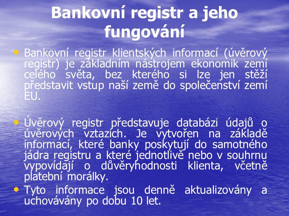 Bankovní registr a jeho fungování