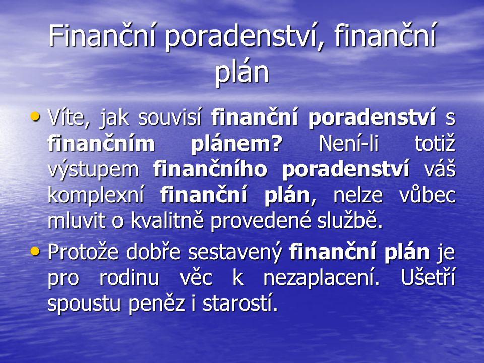 Finanční poradenství, finanční plán