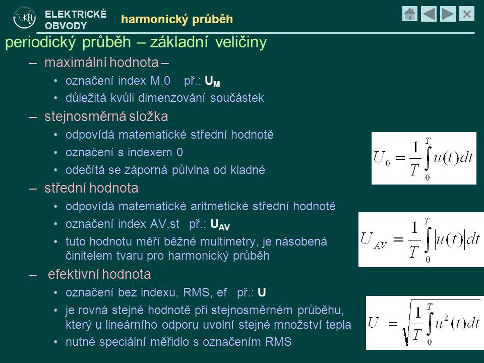 periodický průběh – základní veličiny