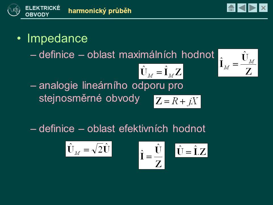 Impedance definice – oblast maximálních hodnot