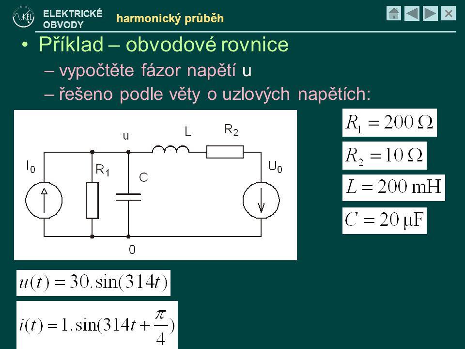 Příklad – obvodové rovnice
