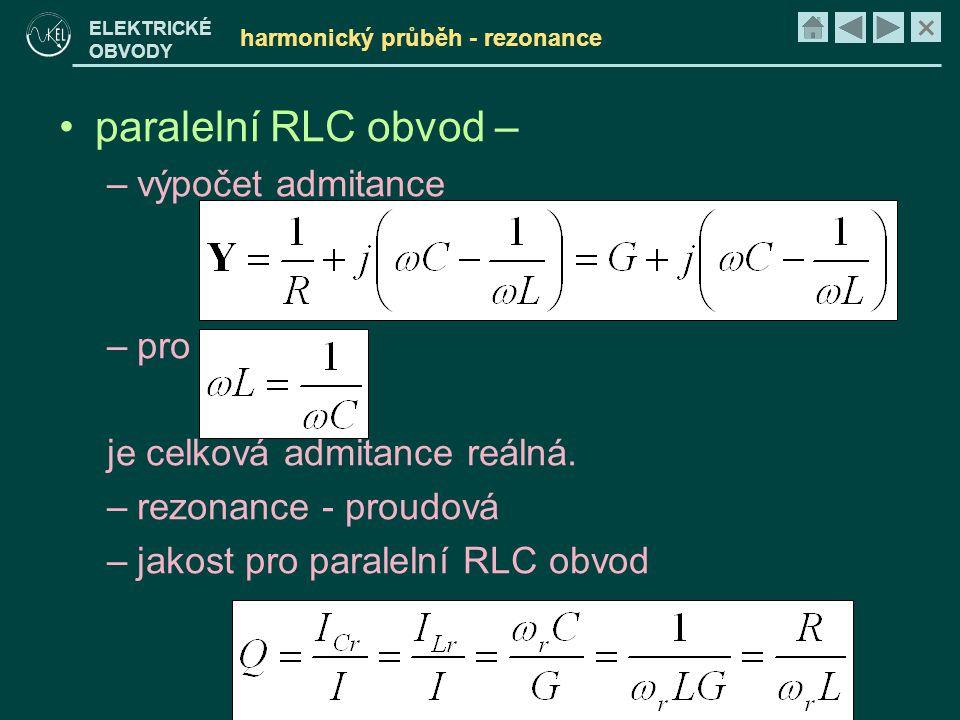 harmonický průběh - rezonance