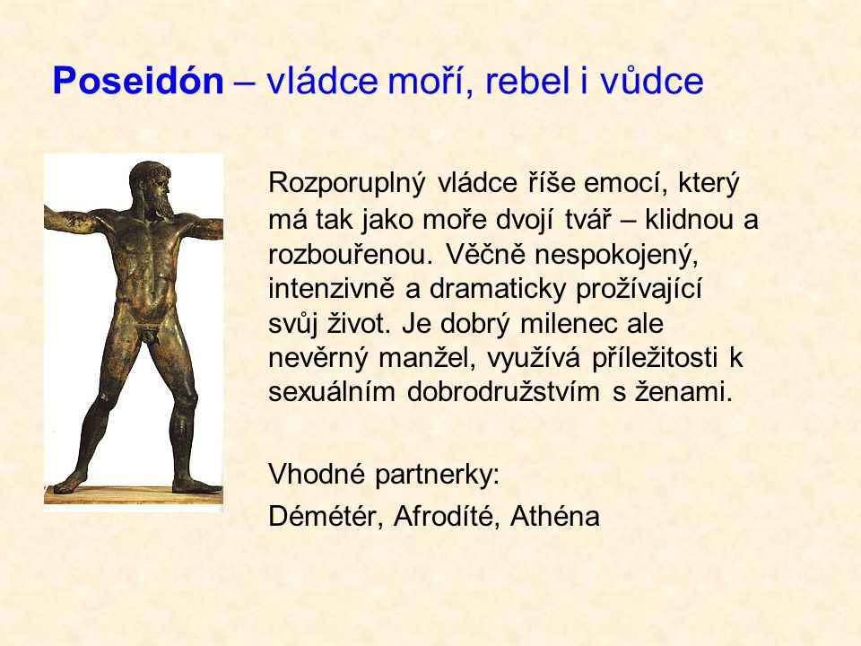 Poseidón – vládce moří, rebel i vůdce