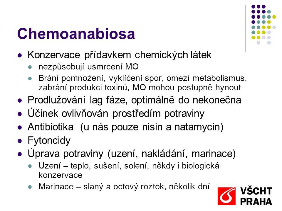 Chemoanabiosa Konzervace přídavkem chemických látek