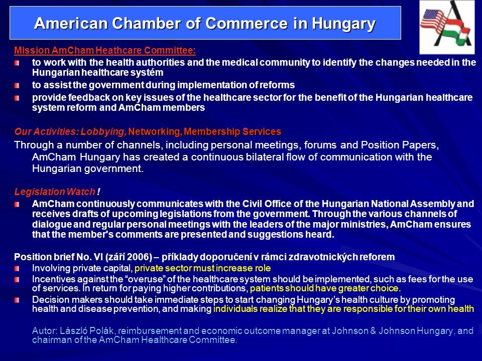 American Chamber of Commerce in Hungary