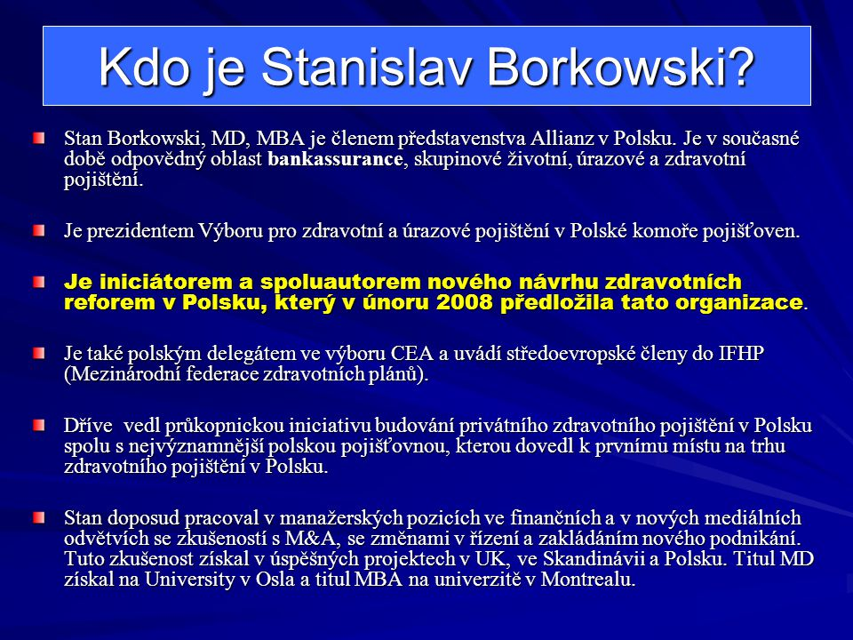 Kdo je Stanislav Borkowski