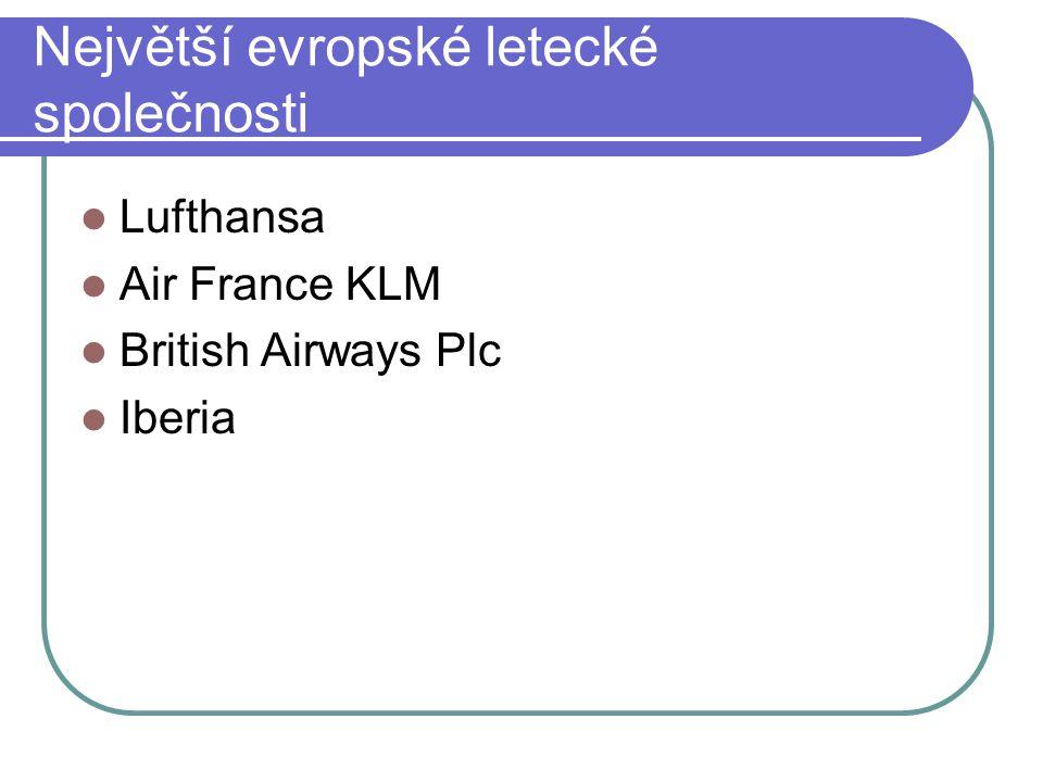 Největší evropské letecké společnosti