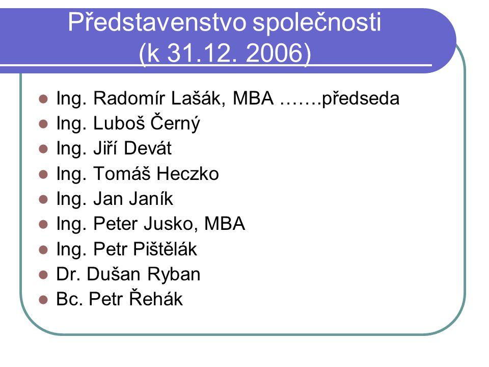 Představenstvo společnosti (k 31.12. 2006)