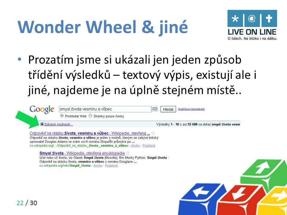 Wonder Wheel & jiné