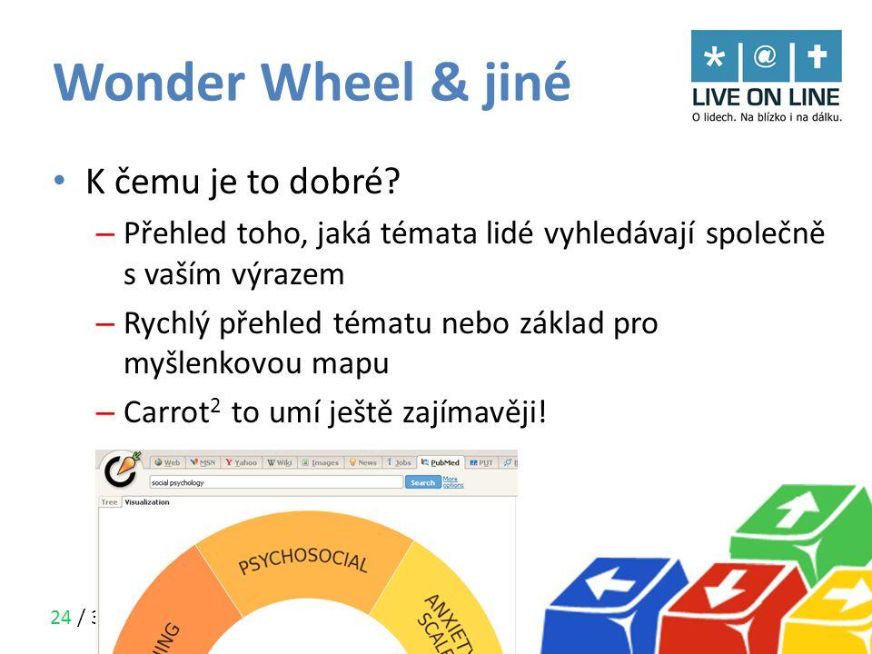 Wonder Wheel & jiné K čemu je to dobré