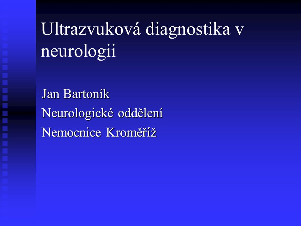 Ultrazvuková diagnostika v neurologii