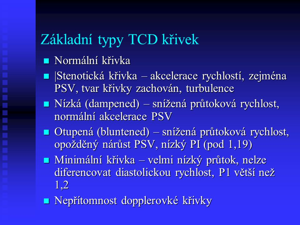 Základní typy TCD křivek