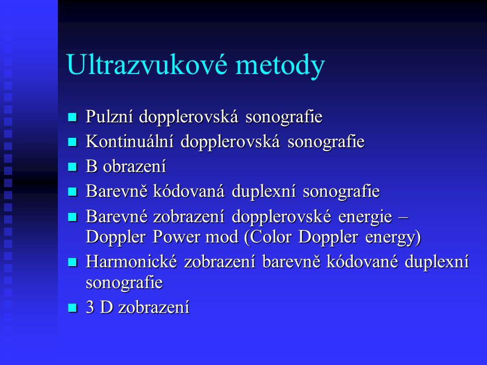 Ultrazvukové metody Pulzní dopplerovská sonografie