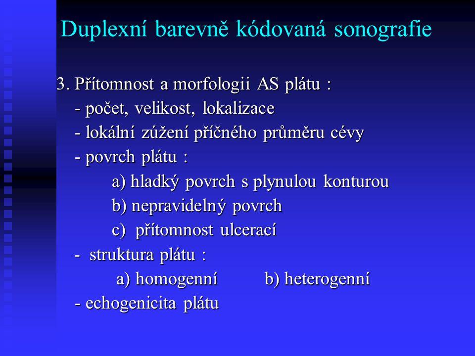 Duplexní barevně kódovaná sonografie