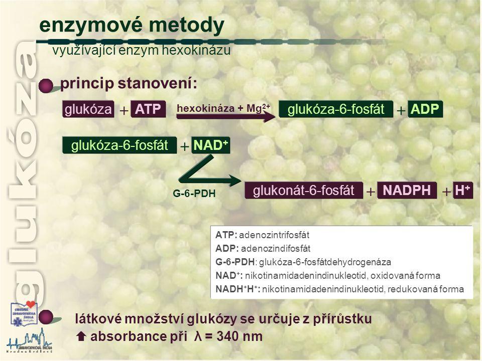 enzymové metody využívající enzym hexokinázu
