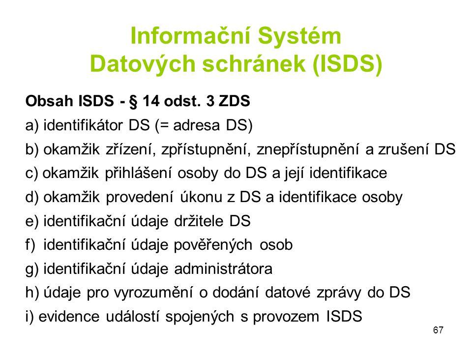 Informační Systém Datových schránek (ISDS)