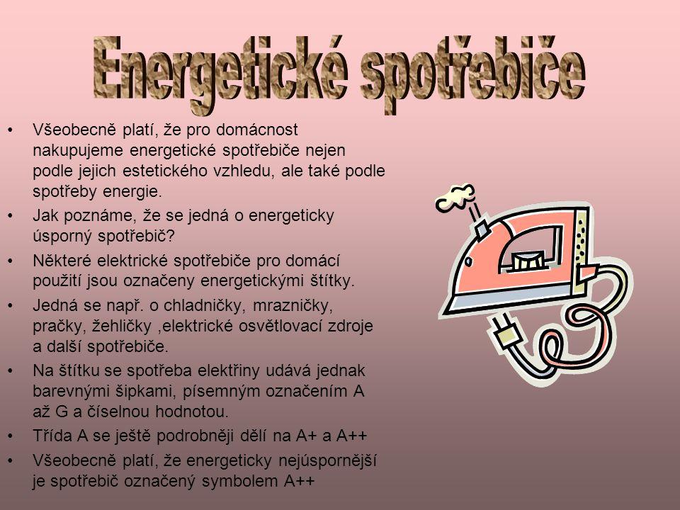 Energetické spotřebiče