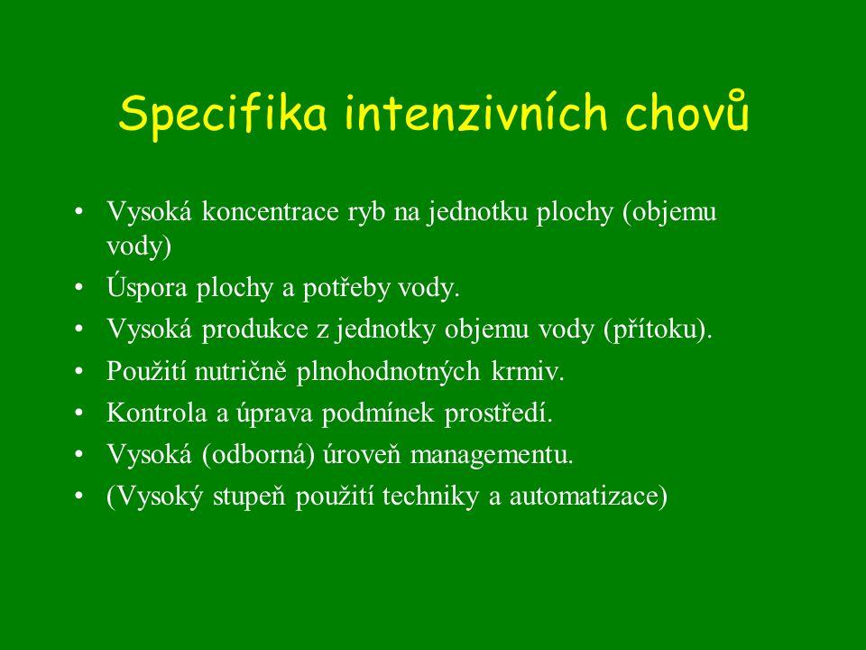 Specifika intenzivních chovů