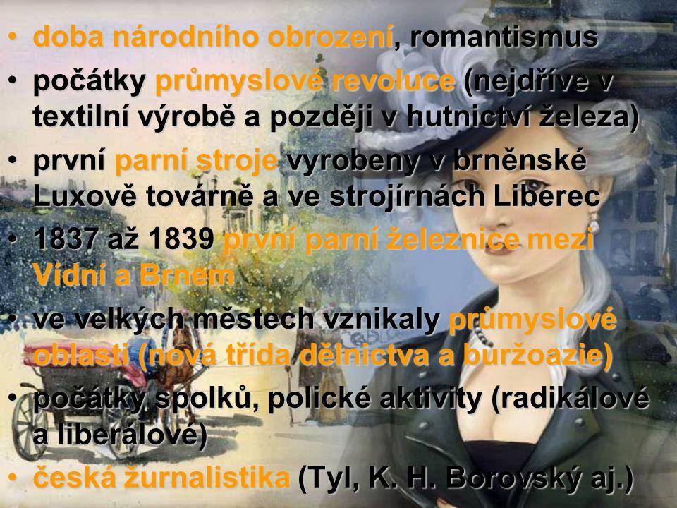 doba národního obrození, romantismus