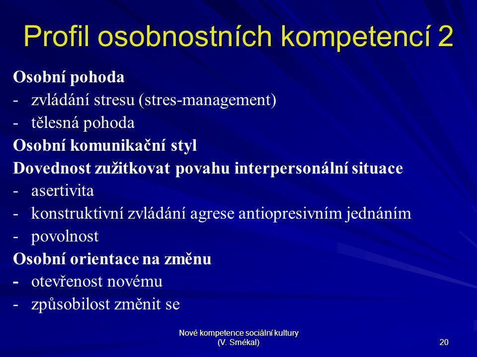 Profil osobnostních kompetencí 2