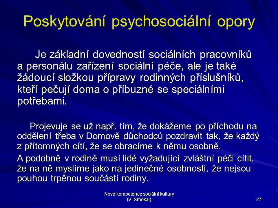 Poskytování psychosociální opory