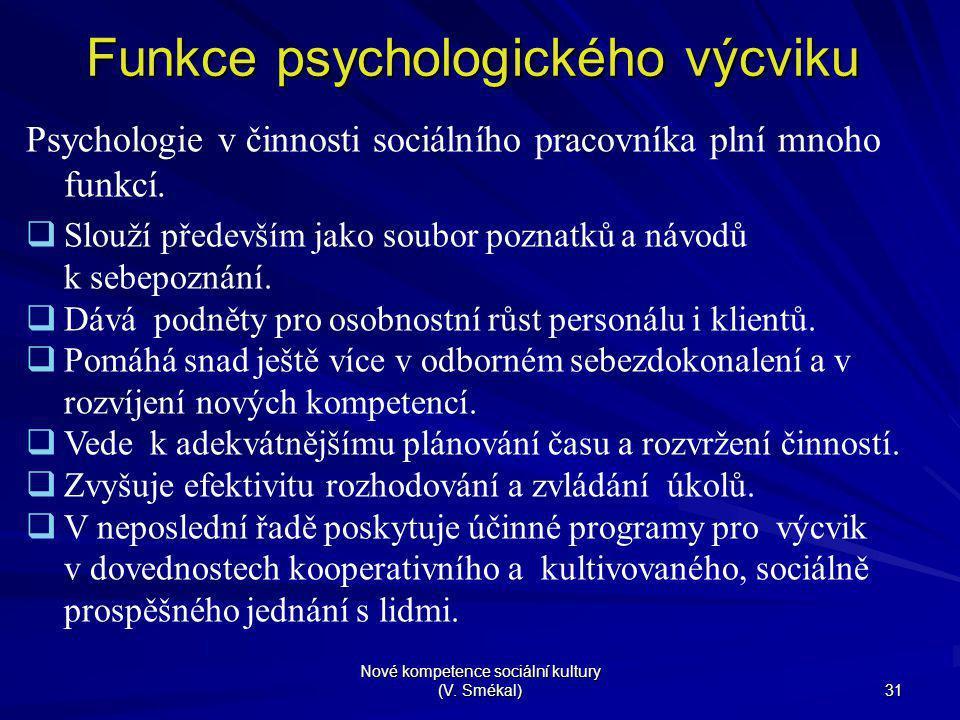 Funkce psychologického výcviku