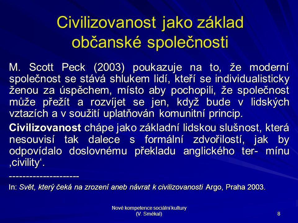 Civilizovanost jako základ občanské společnosti