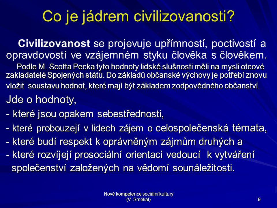 Co je jádrem civilizovanosti