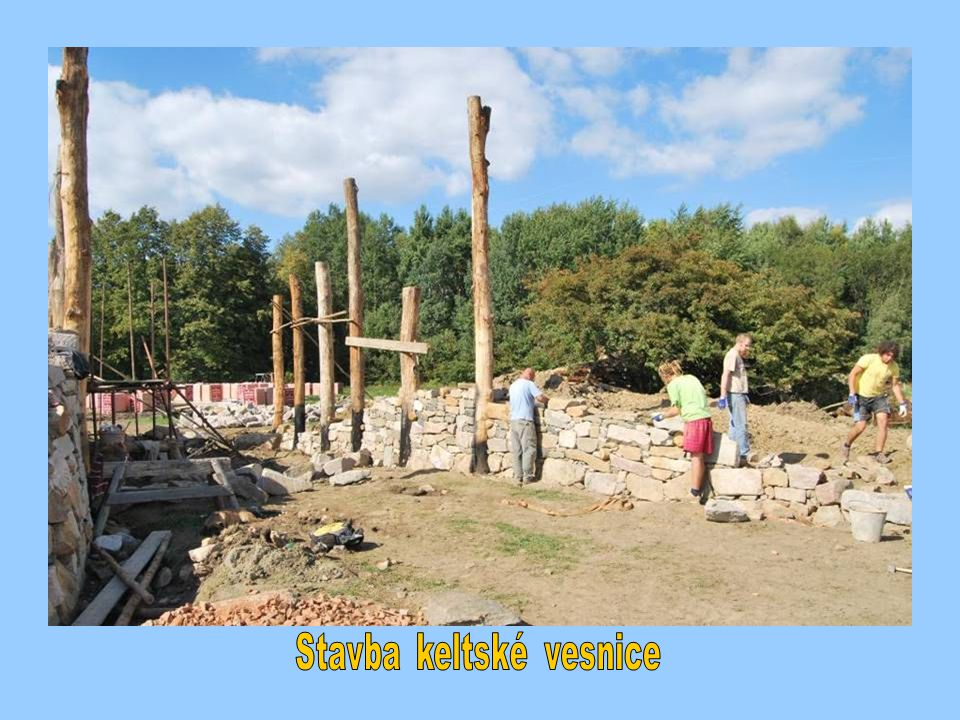 Stavba keltské vesnice