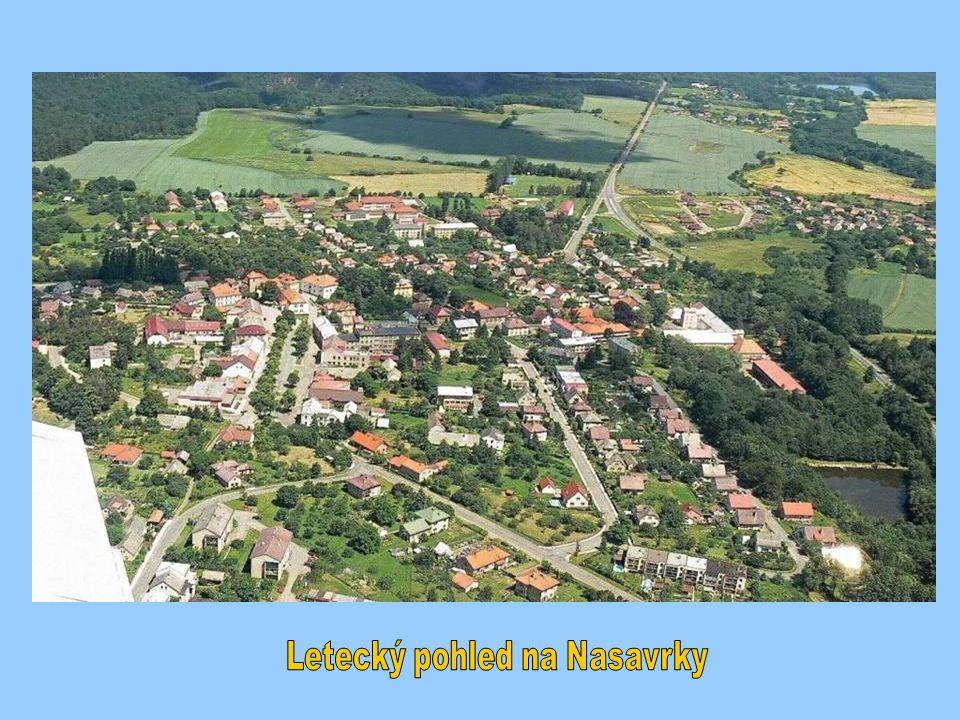 Letecký pohled na Nasavrky