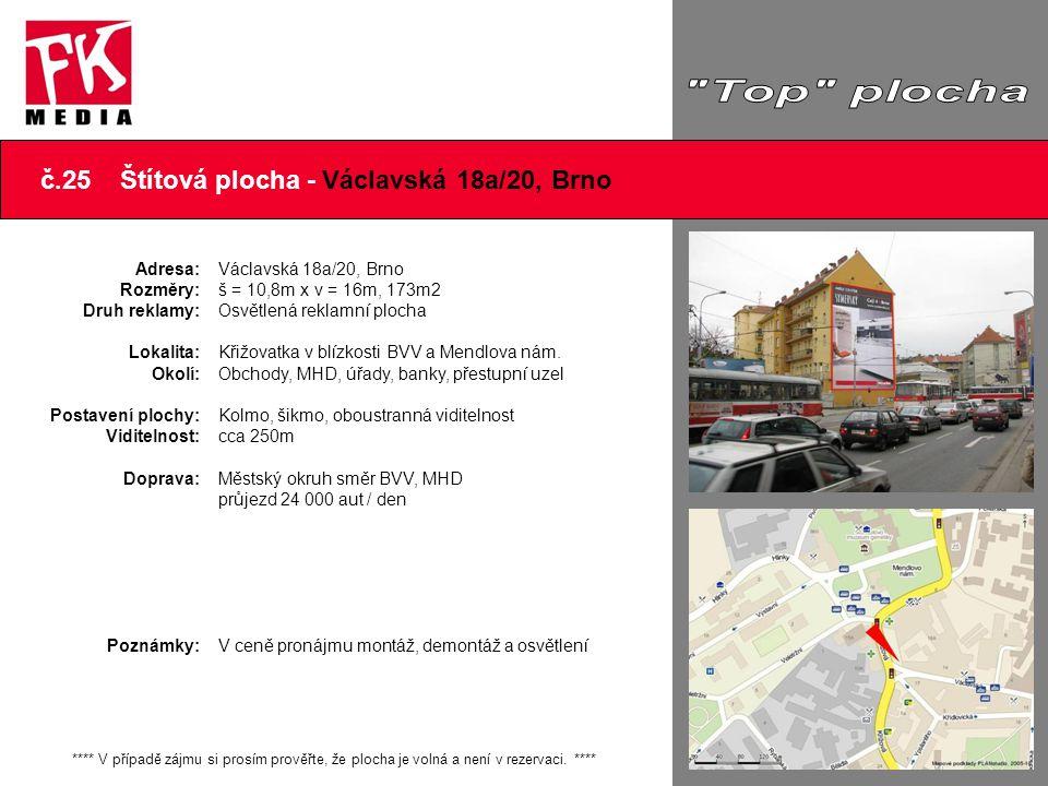 č.25 Štítová plocha - Václavská 18a/20, Brno
