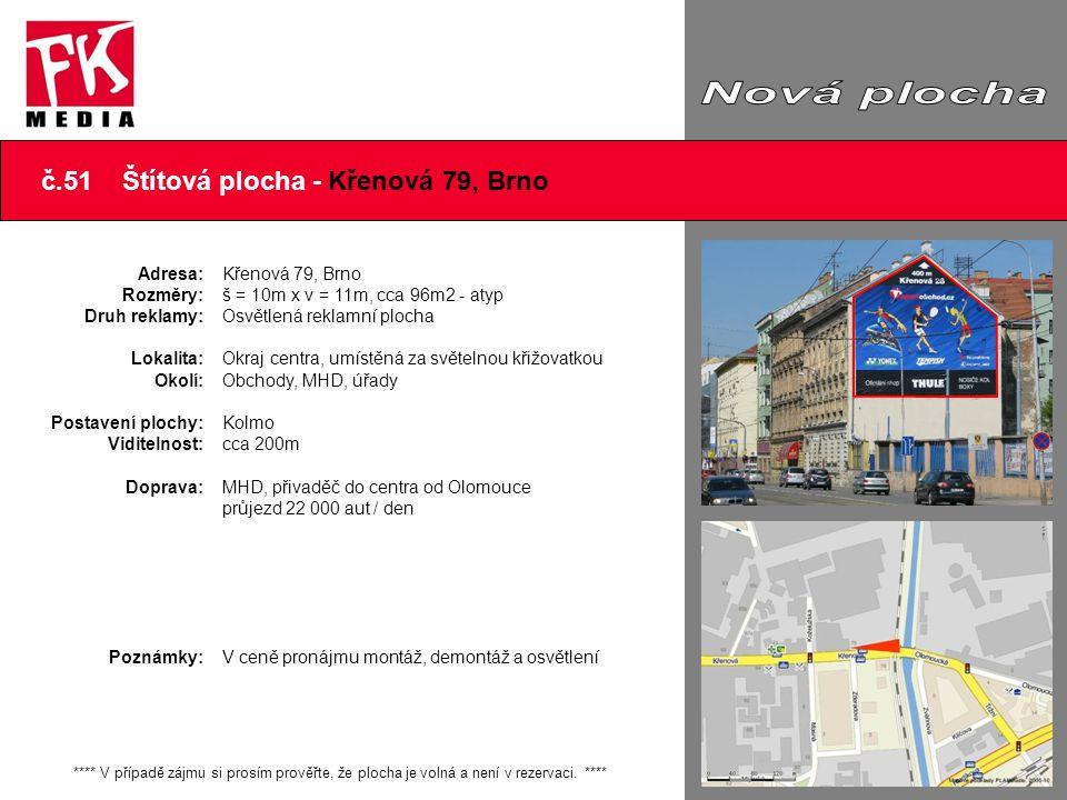 č.51 Štítová plocha - Křenová 79, Brno