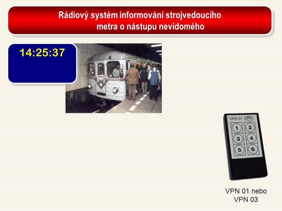 Rádiový systém informování strojvedoucího metra o nástupu nevidomého