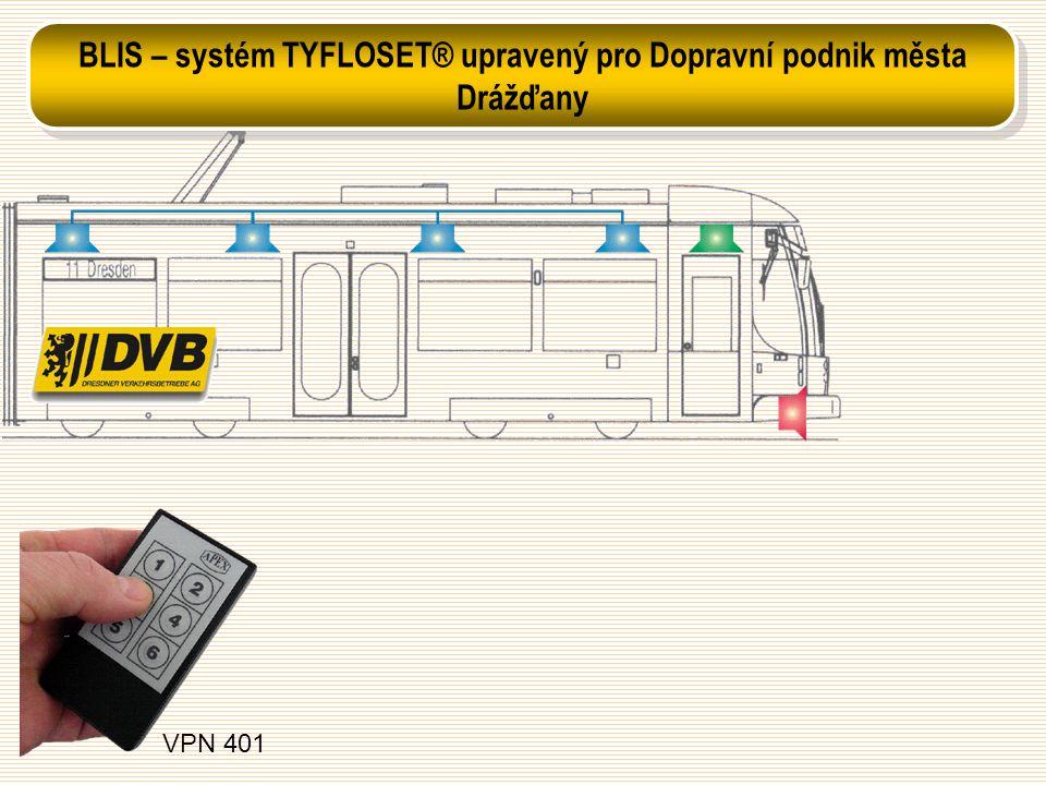 BLIS – systém TYFLOSET® upravený pro Dopravní podnik města Drážďany
