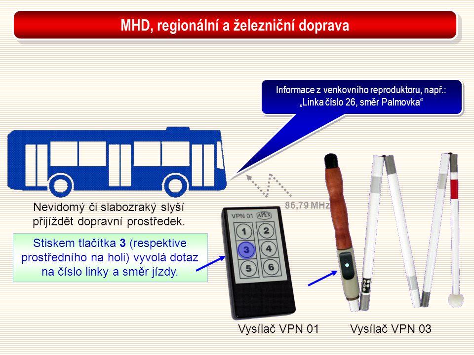 MHD, regionální a železniční doprava