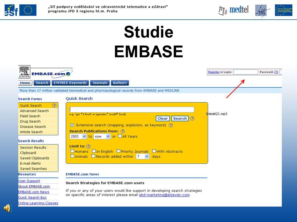 Studie EMBASE www.embase.com