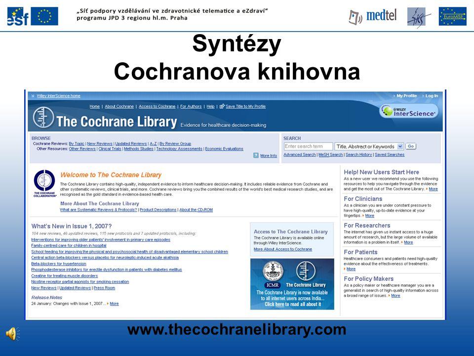 Syntézy Cochranova knihovna