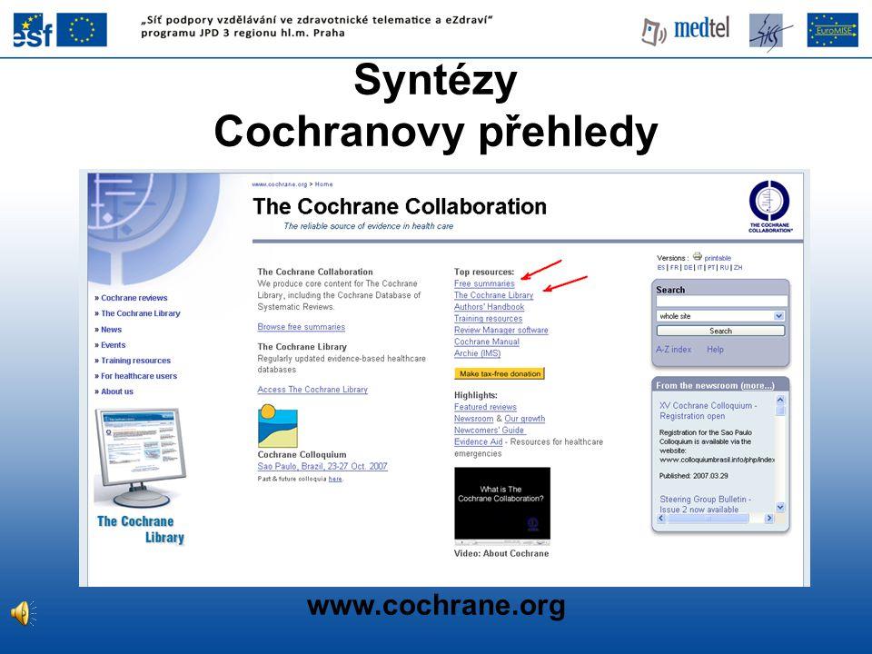Syntézy Cochranovy přehledy