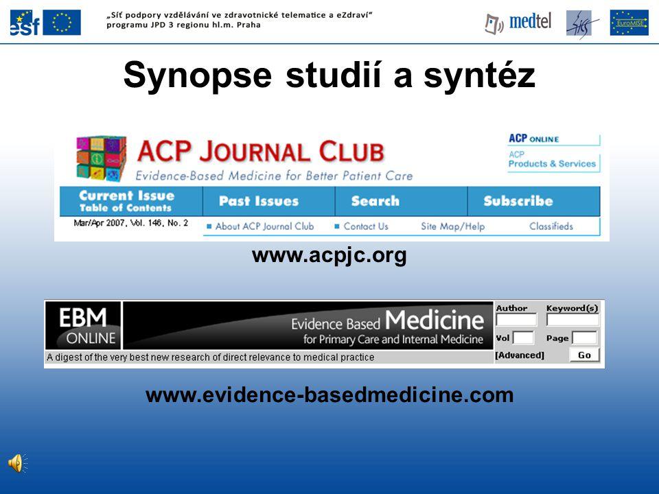 Synopse studií a syntéz