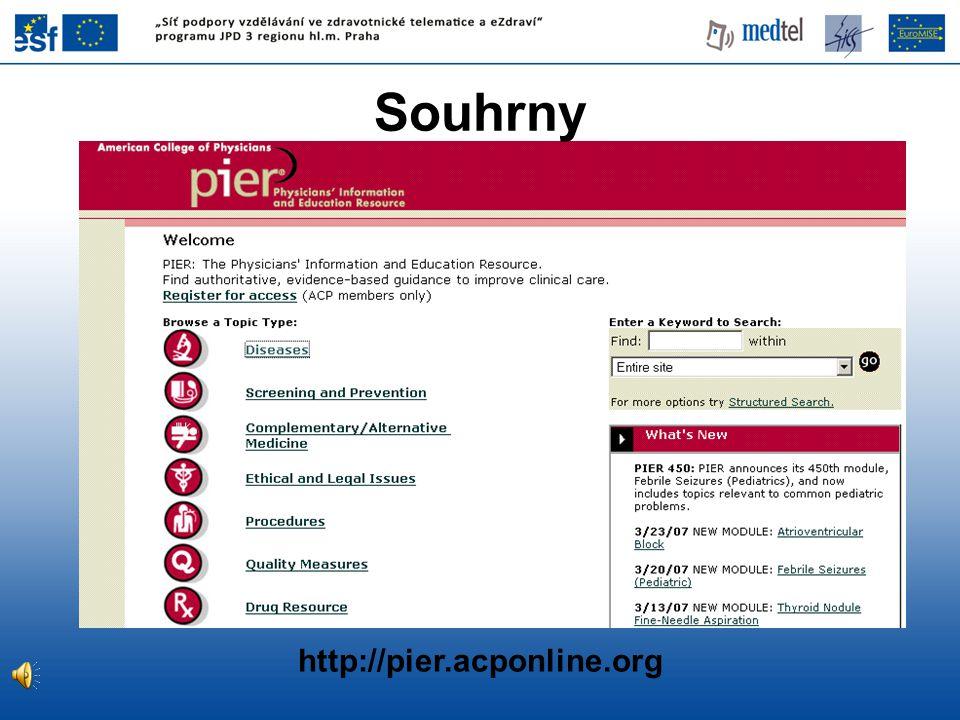 Souhrny http://pier.acponline.org