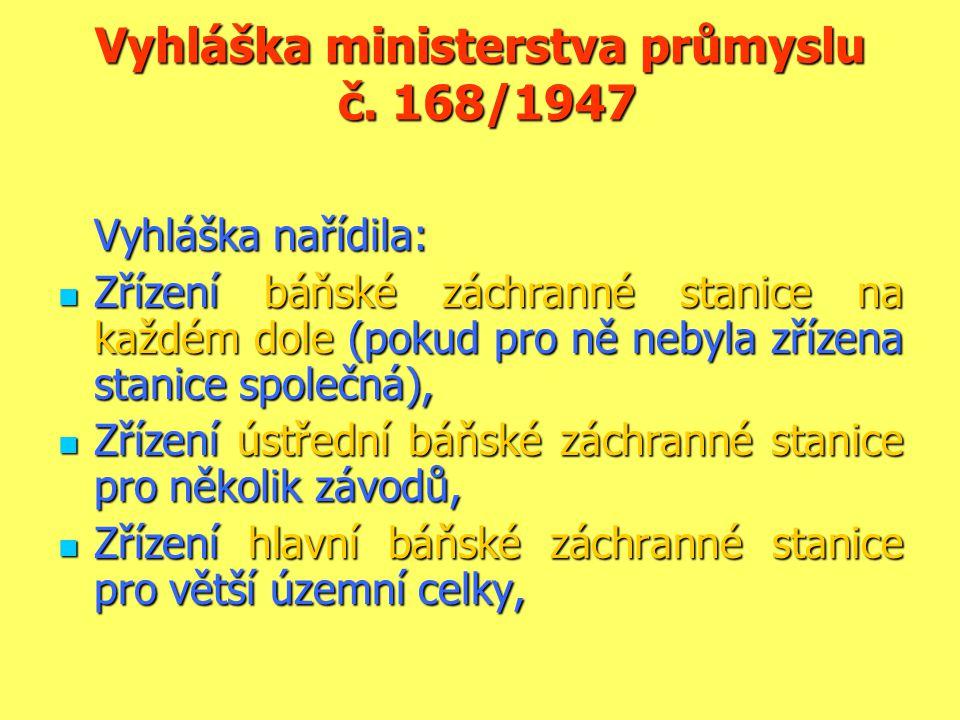 Vyhláška ministerstva průmyslu č. 168/1947